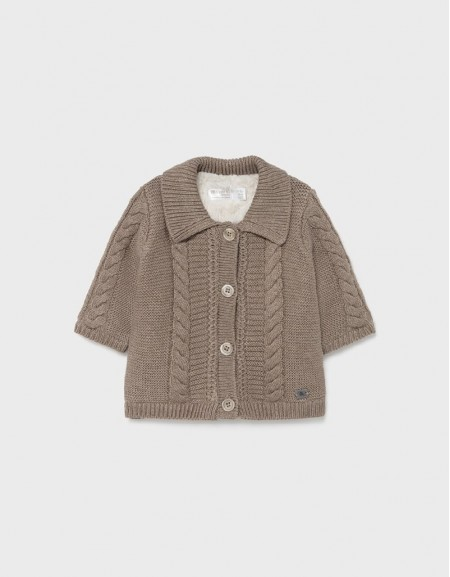Bright Vis Knit And Fur Cardigan
