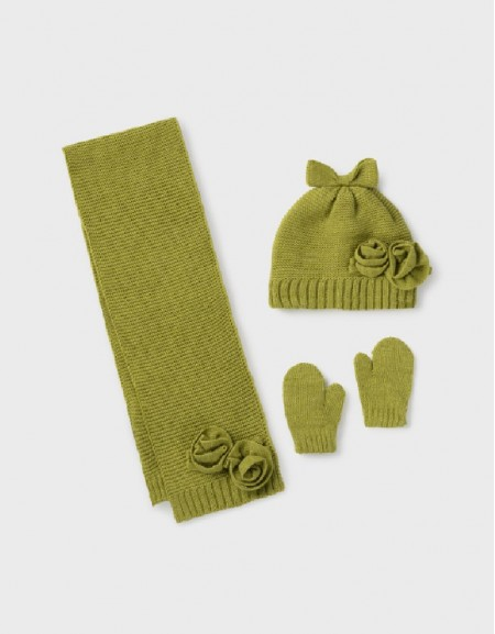 Green Hat-Scarf Set