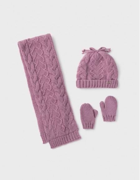 Purple Hat-Scarf Set