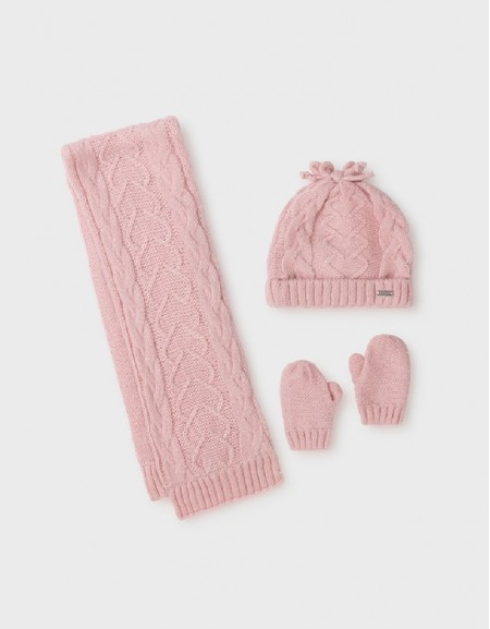 Rose Hat-Scarf Set