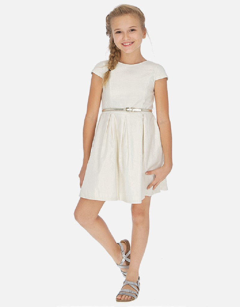 Champagne Linen dress