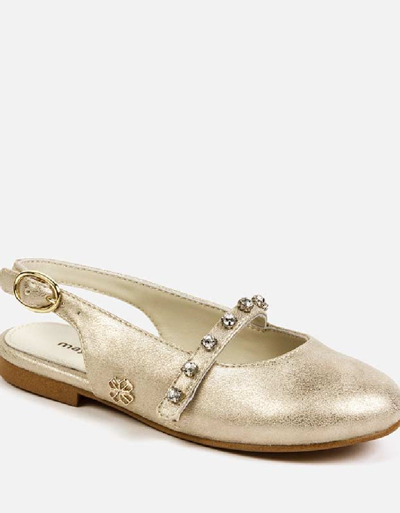 Champagne Mary jane shoes