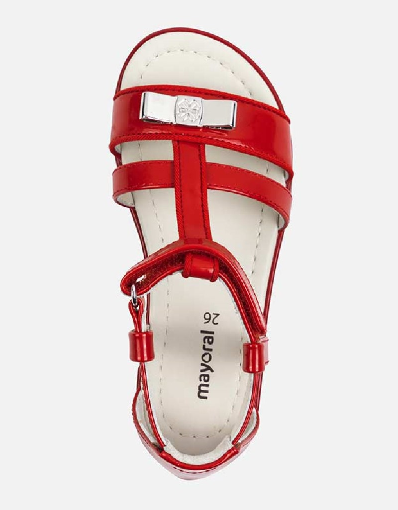 Red Patent leather sandals