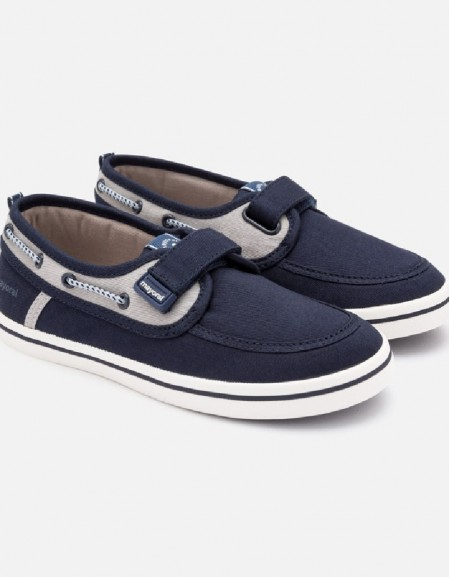 Navy Boat fabric shoes