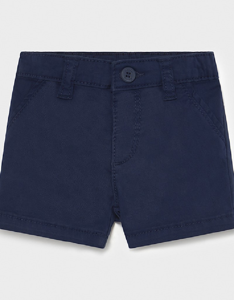 Navy Twill Basic Shorts