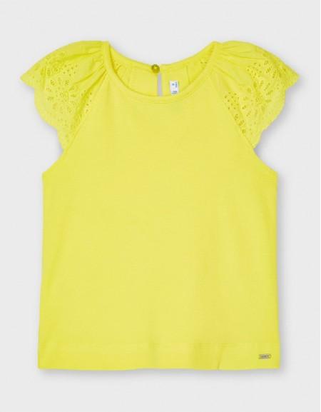 Yellow Sleeveless T-Shirt