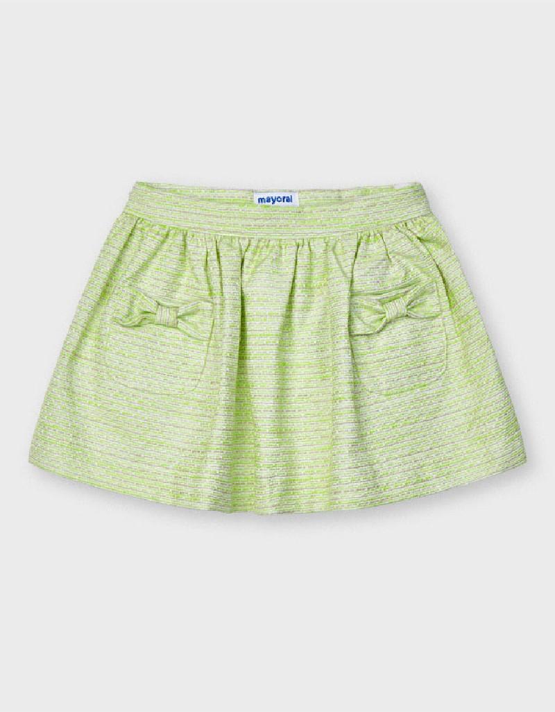Pistachio Tweed Skirt