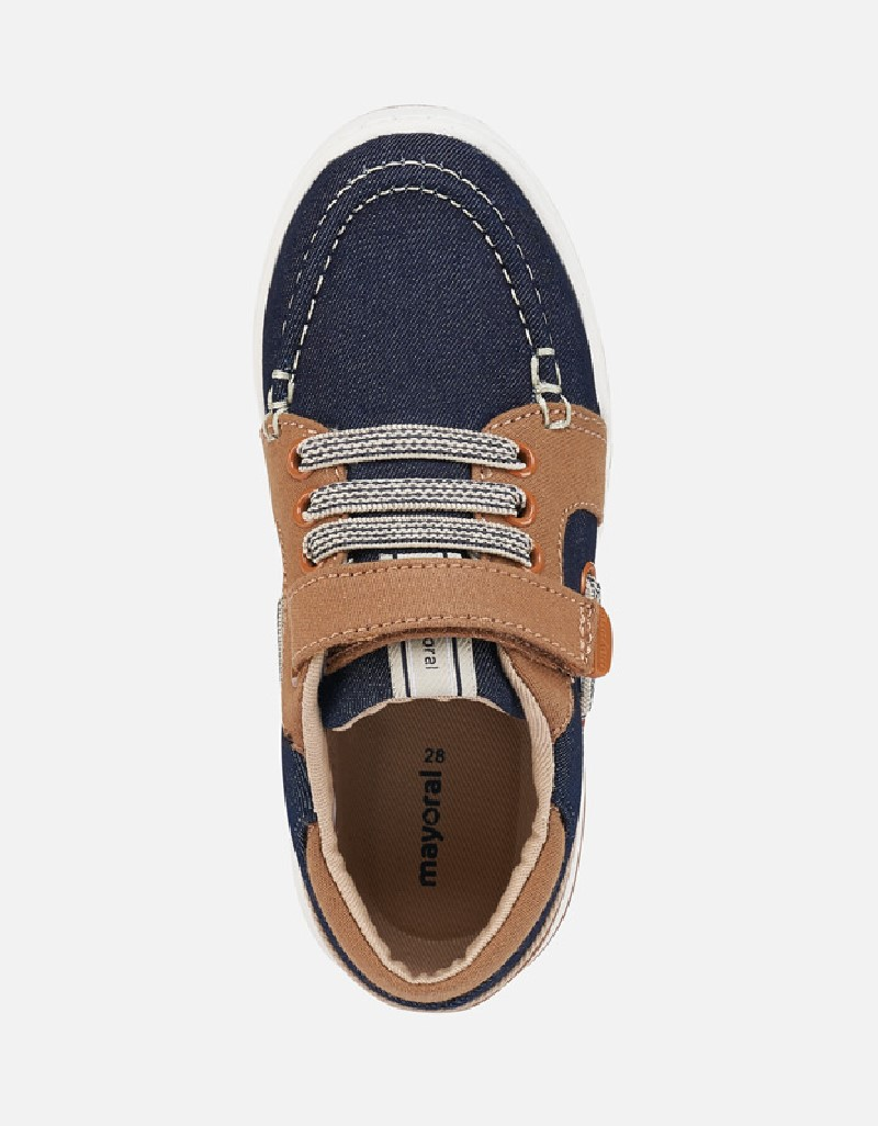 Camel Boat Fabric Shoes