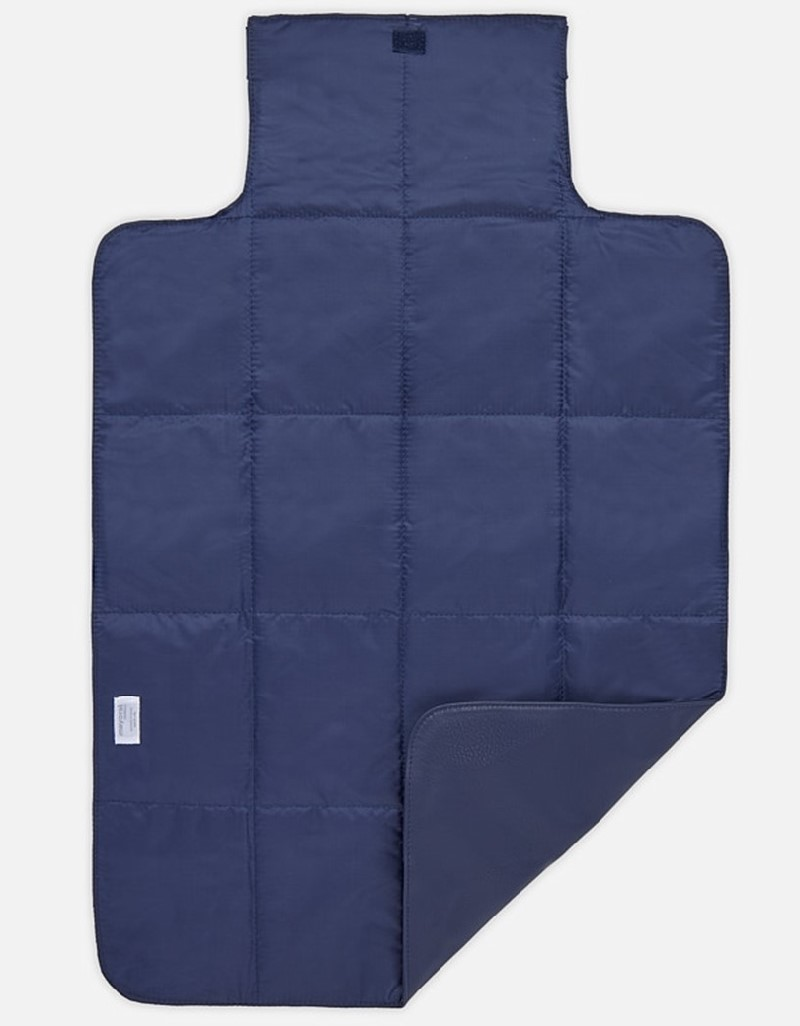 Night Blue Changing Mat With Braided Detailing