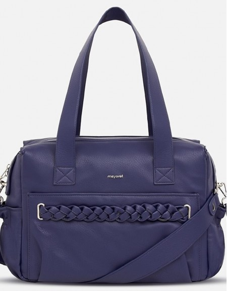 Night Blue Bag With Braided Detailing