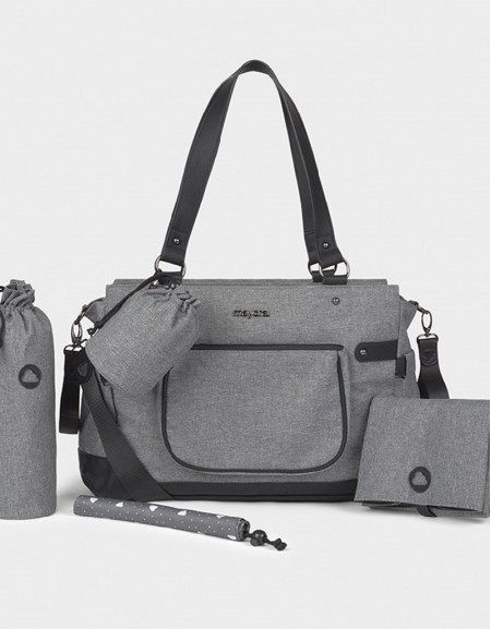 Charcoal Changing Bag With Accessories
