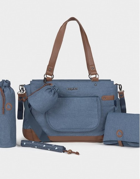 Blue Changing Bag With Accessories