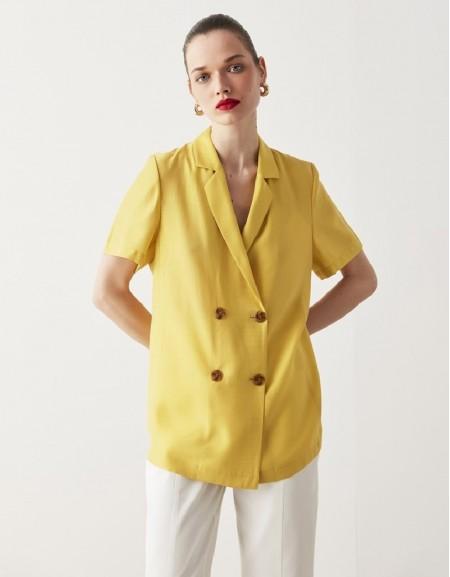 Yellow Tencel ™ Blazer