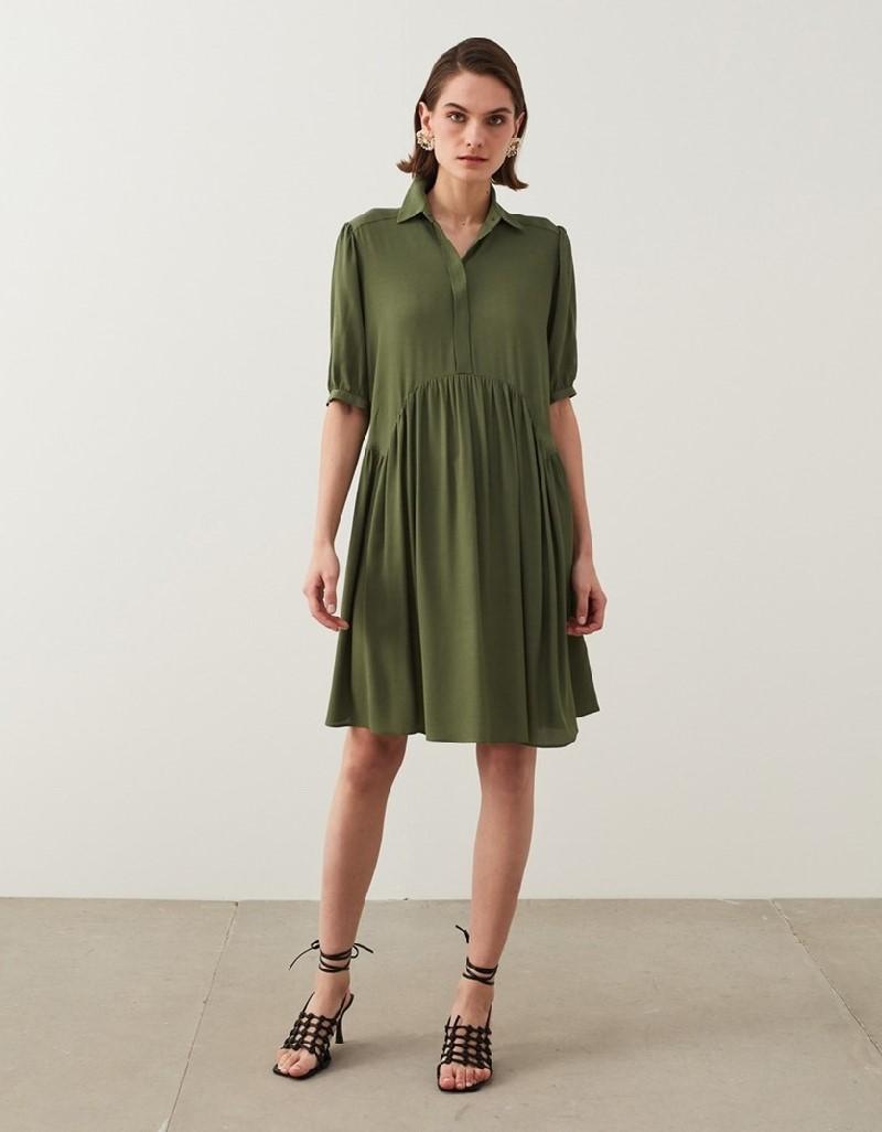 Khaki Short Dress