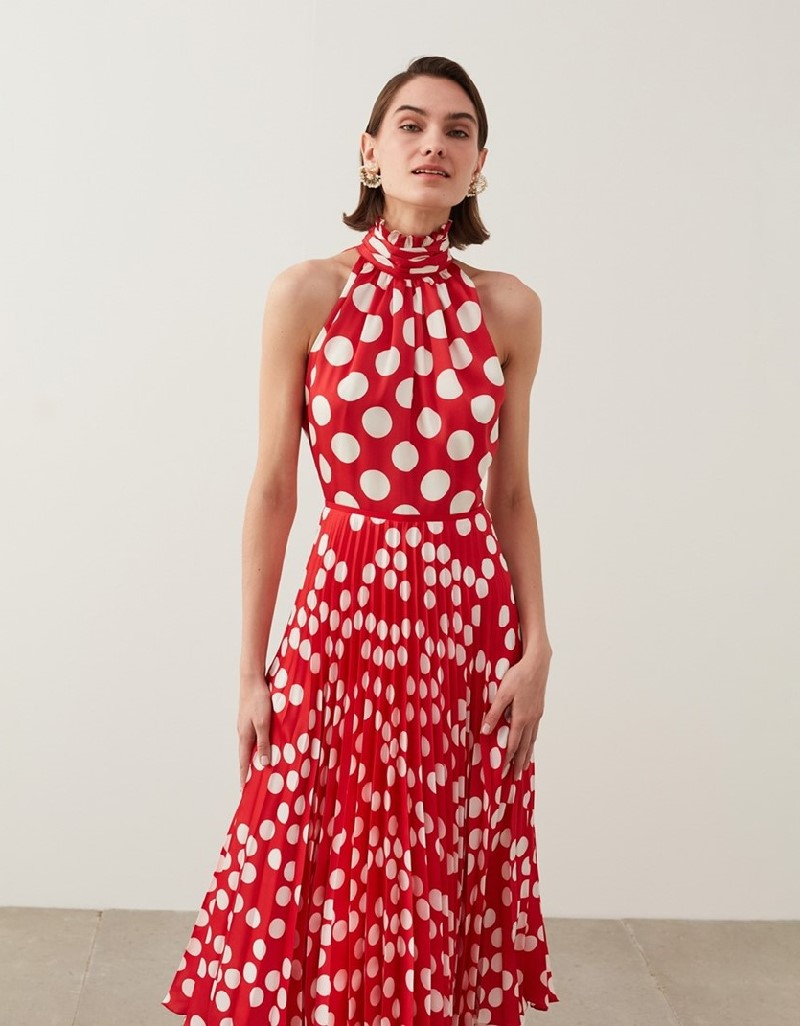 Red Polka Dot Pattern Dress