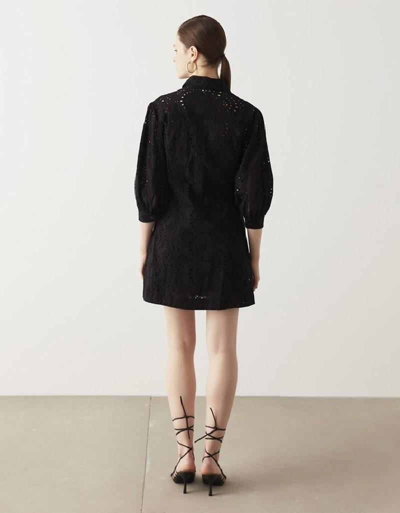 Black Flannel Dress