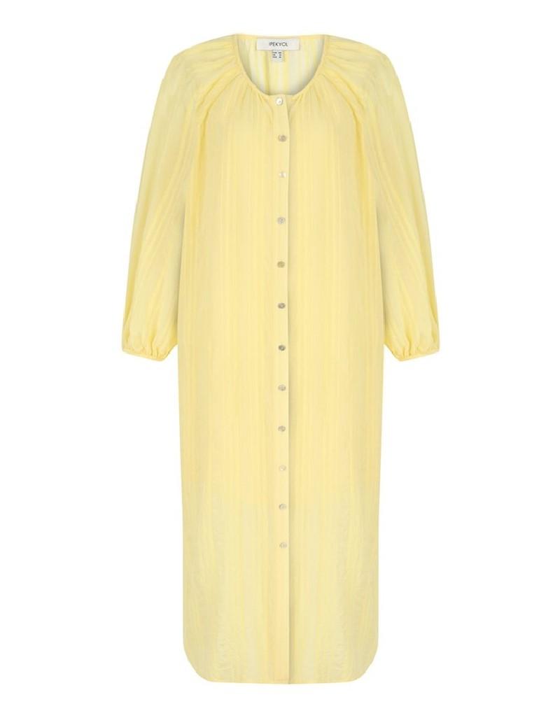 Pastel Yellow Woven Dress