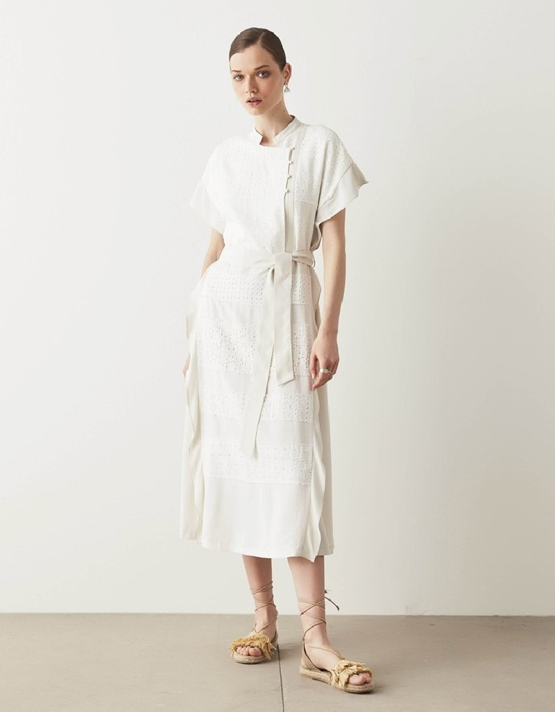 Oil Dress With Flared Detail