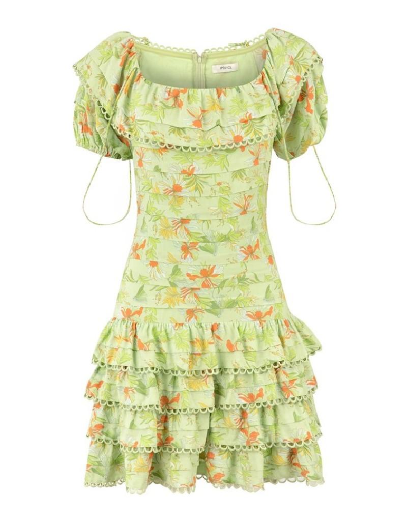 Green Low Shoulder Dress