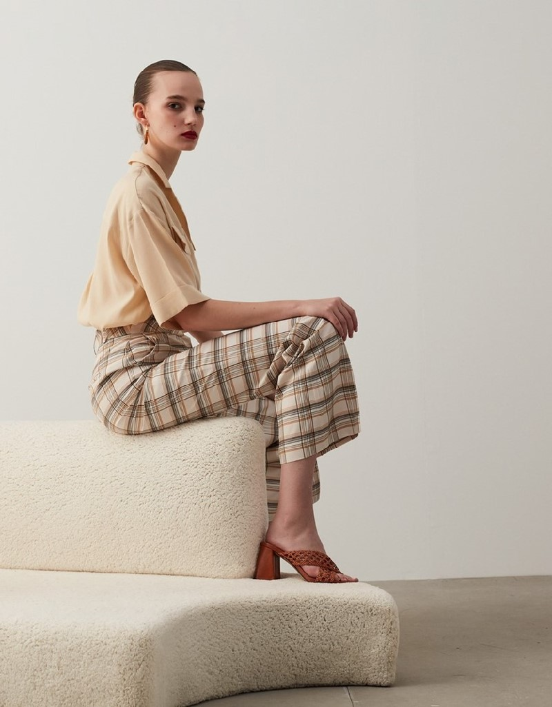 Oil Plaid Trousers