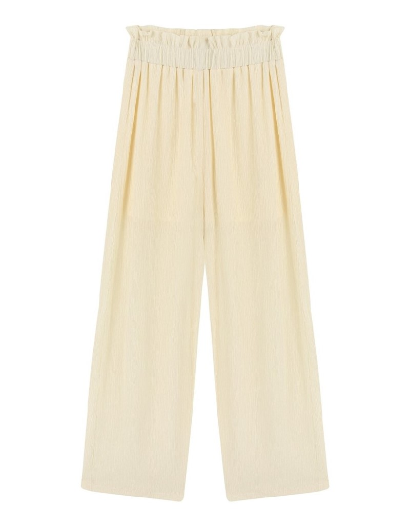 Oil Bark Textured Trousers