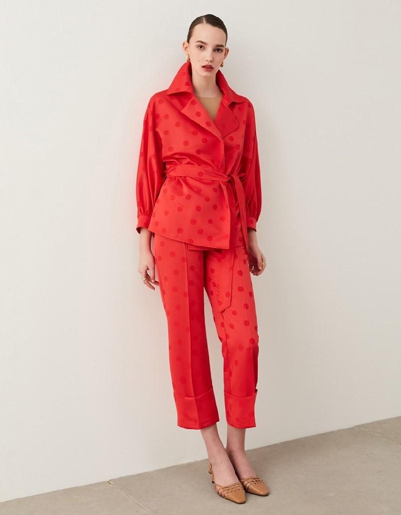 Red Polka Dot Trousers