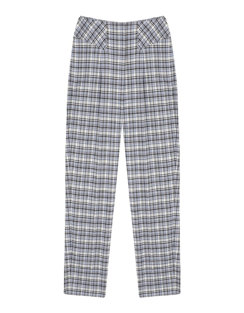 Blue Plaid Trousers