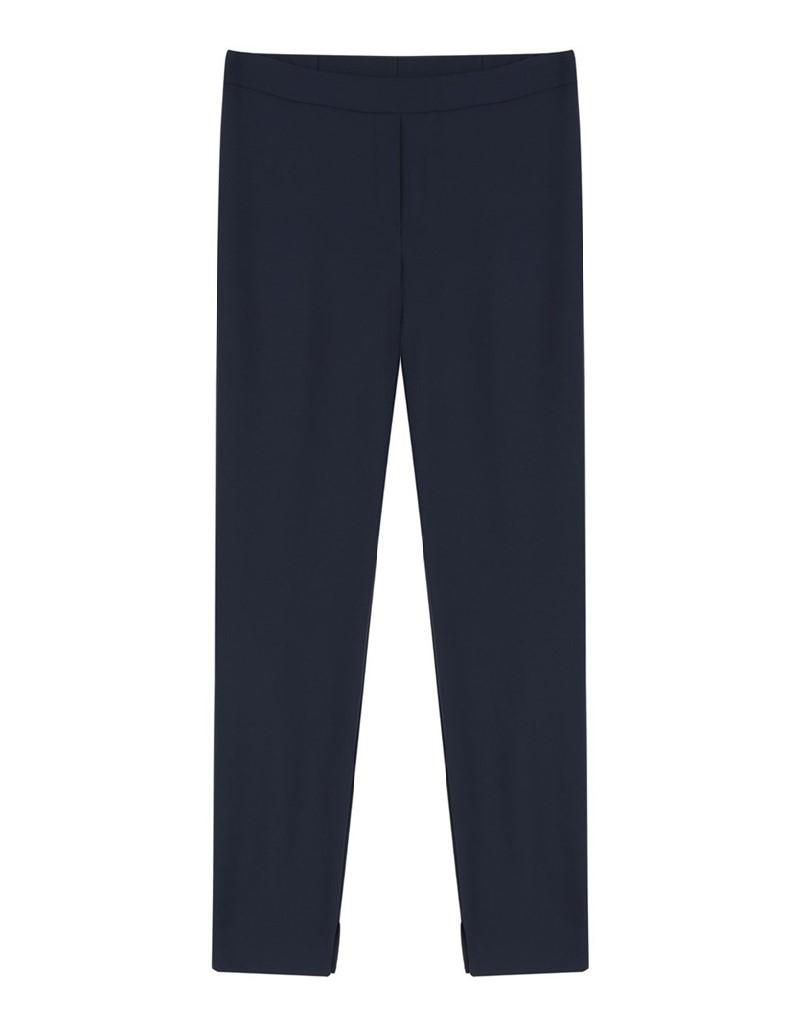 Navy Zipper Closure Pants