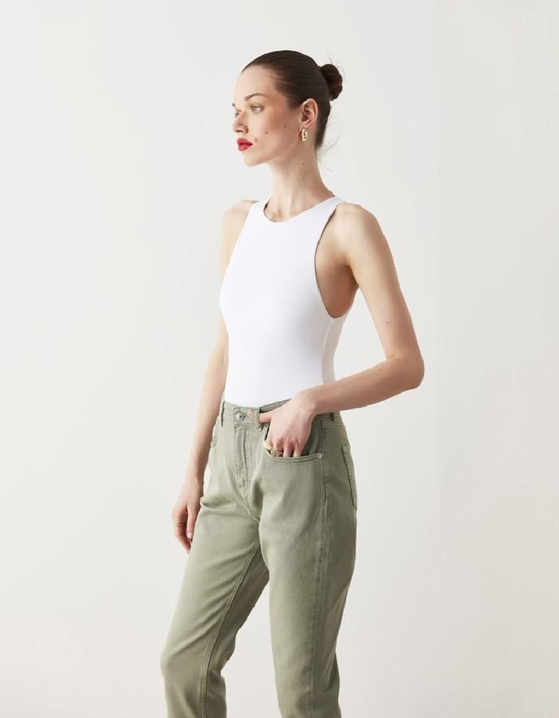 Khaki Straight Fit Jeans