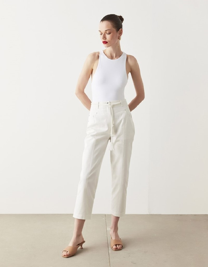 Off White Mom Fit Jeans