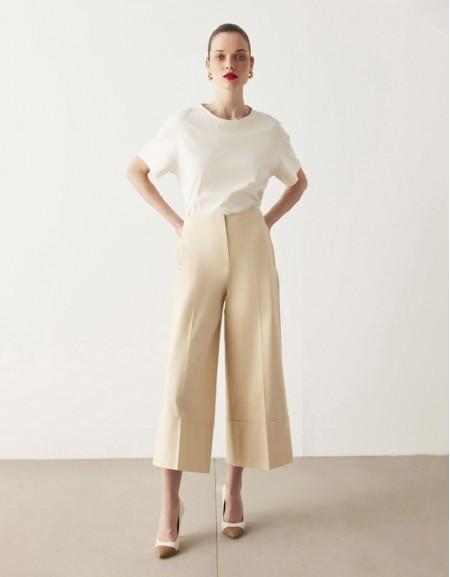 Oil Culotte Fit Trousers