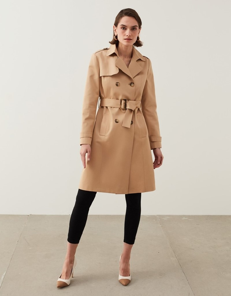 Natural Classic Fit Trench Coat