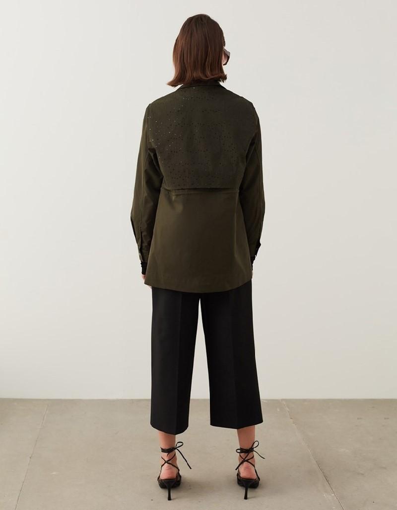 Khaki Detailed Coat