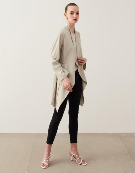 Stone Slim Coat With Shawl Collar