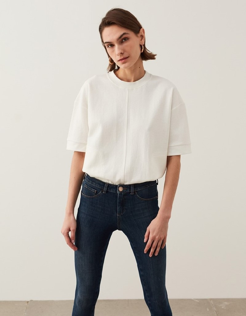 Indigo Cotton Blended Jeans