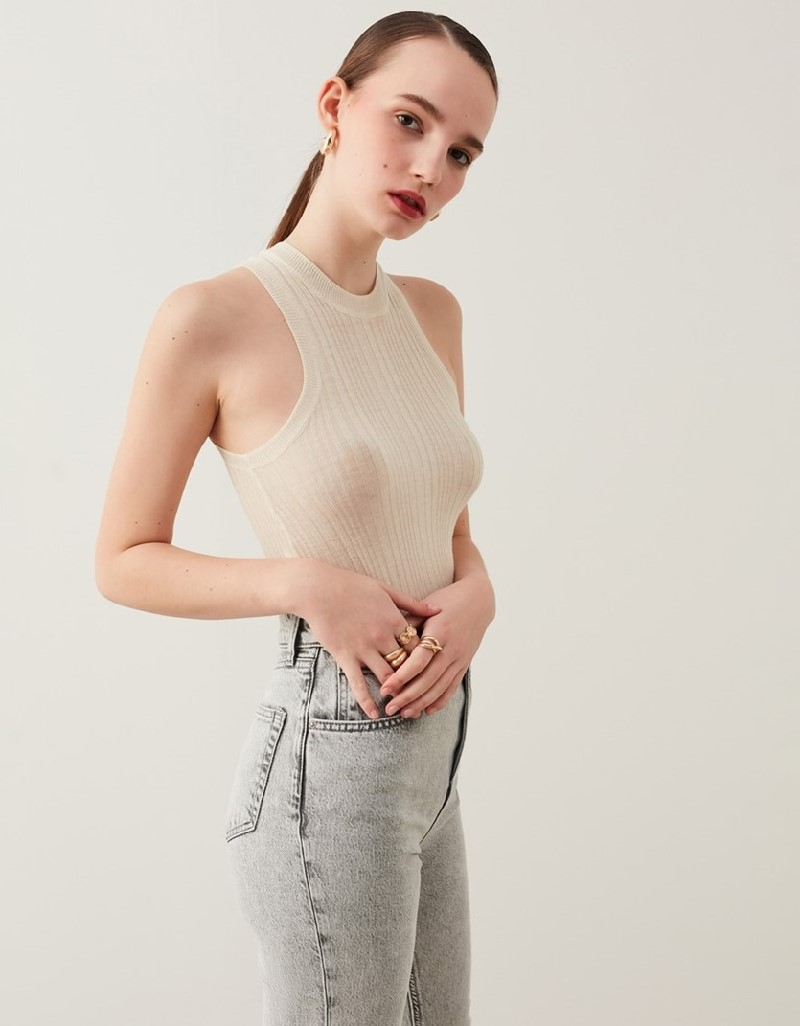 Grey Slim Straight Cropped Jeans