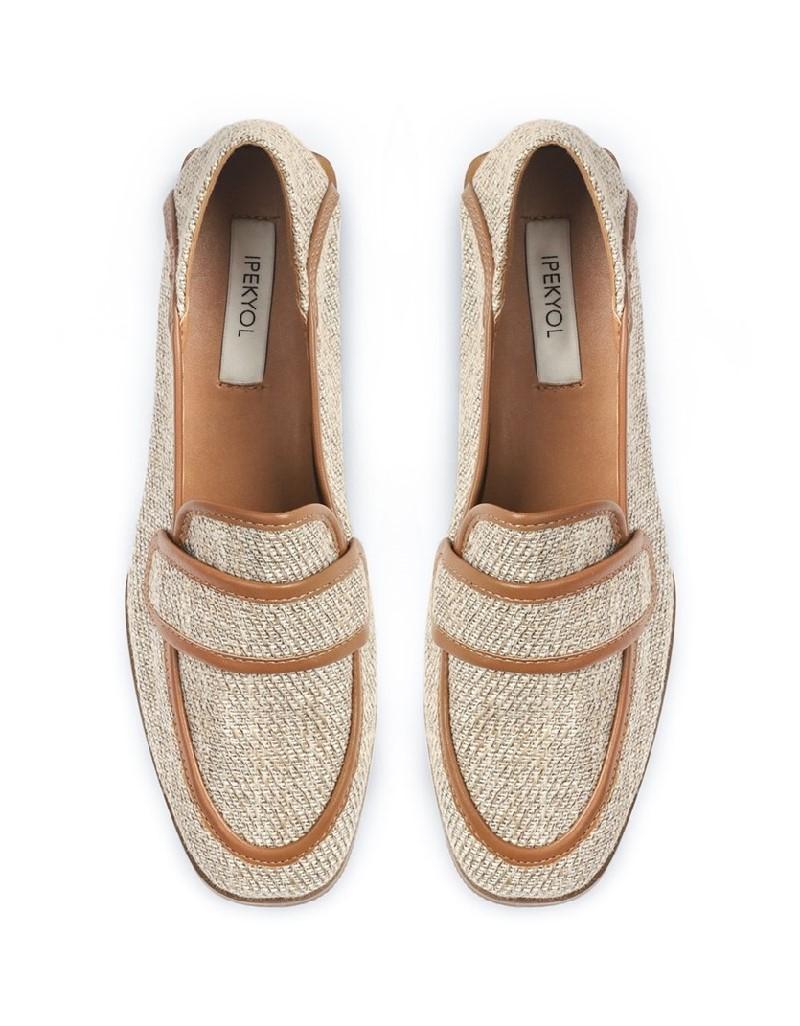 Beige Flat Shoes
