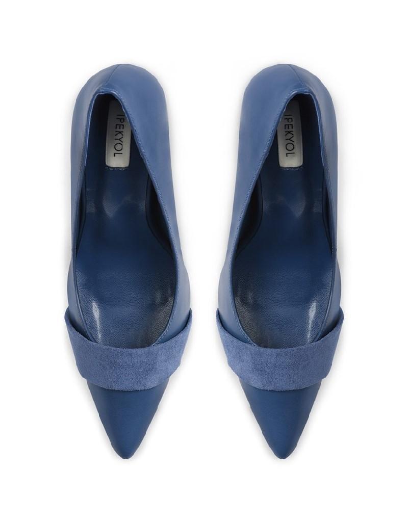 Blue Heeled Shoes