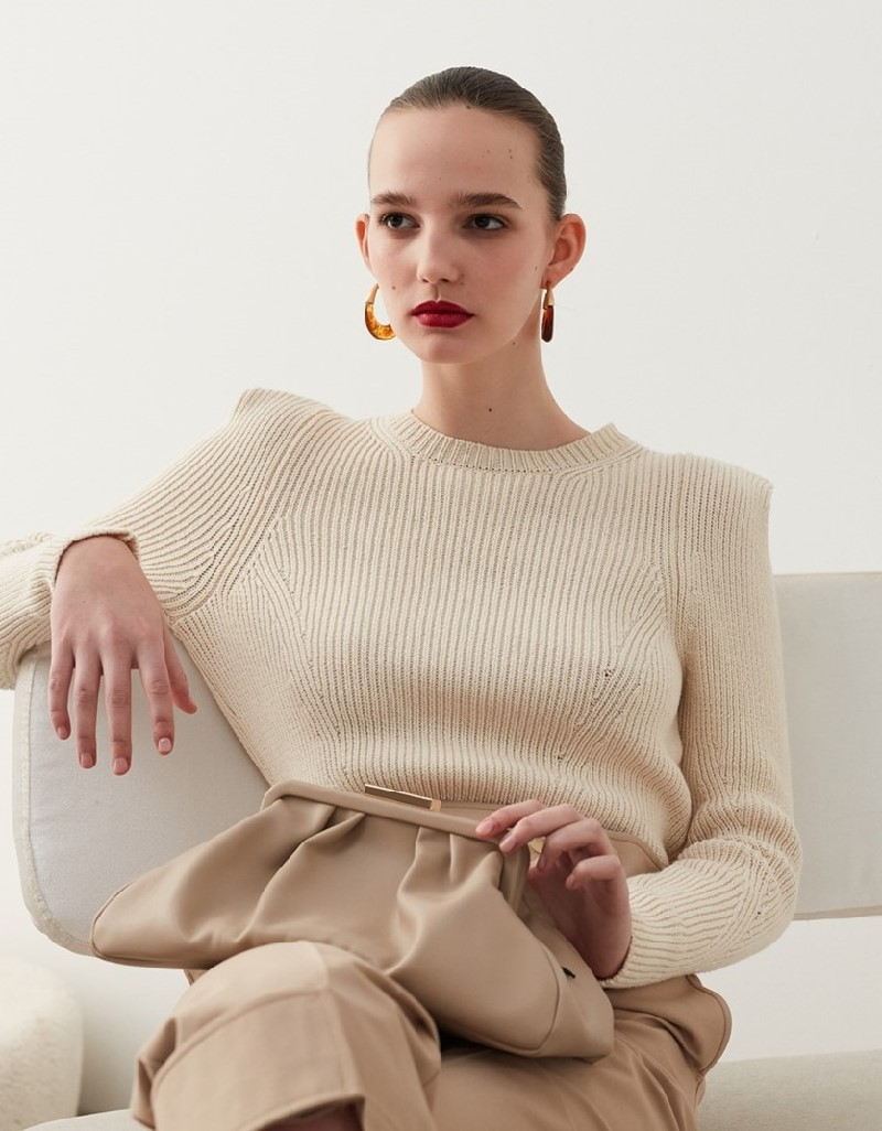 Oil Knitwear With Shoulder Detail