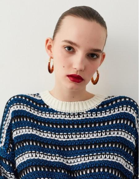 Blue Oversized Knitwear