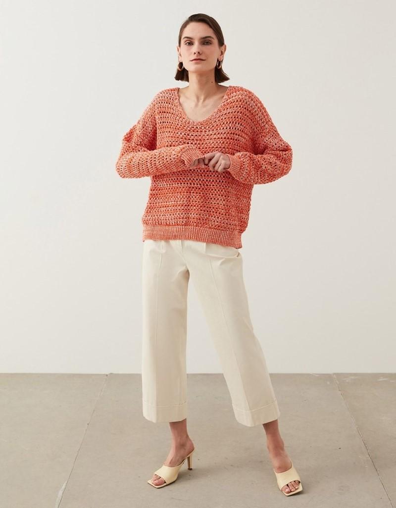 Orange Knit Mixed Knitwear