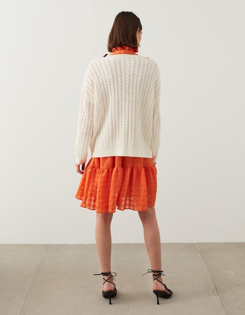 Ecru Colorblock Knitwear