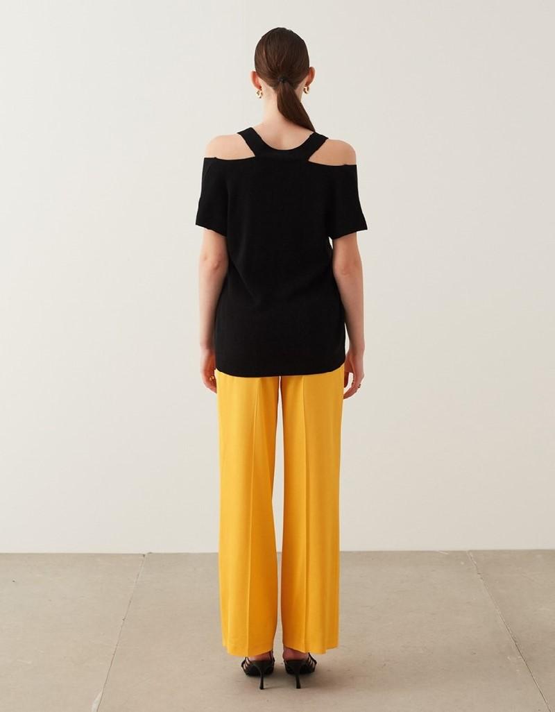 Black Cutout Detail Knitwear