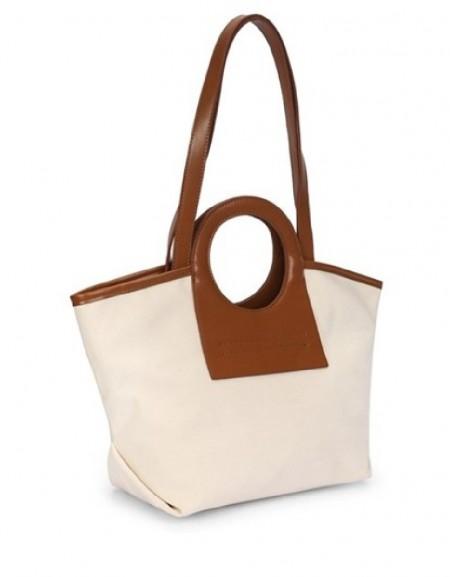 Beige Color transition sleeve bag