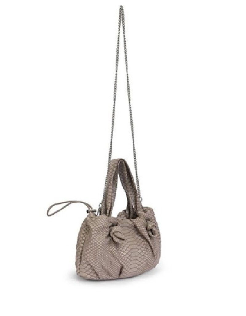Grey Sleeve Bag With Lace Strap Detail