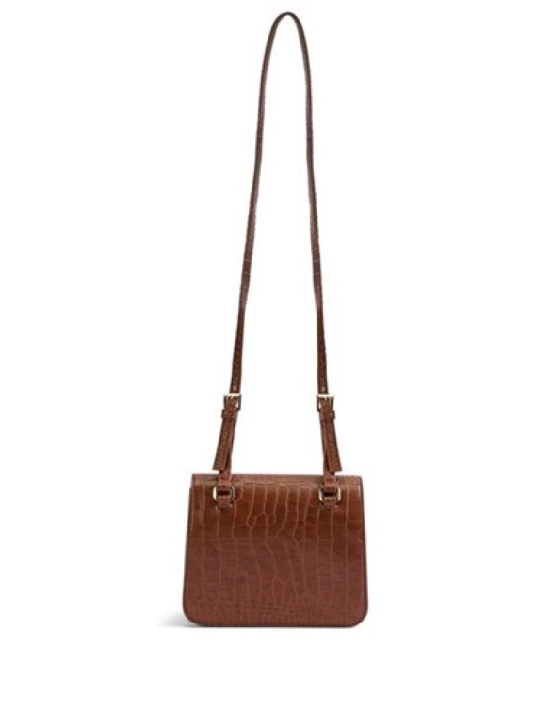 Brown Croco Pattern Sleeve Bag