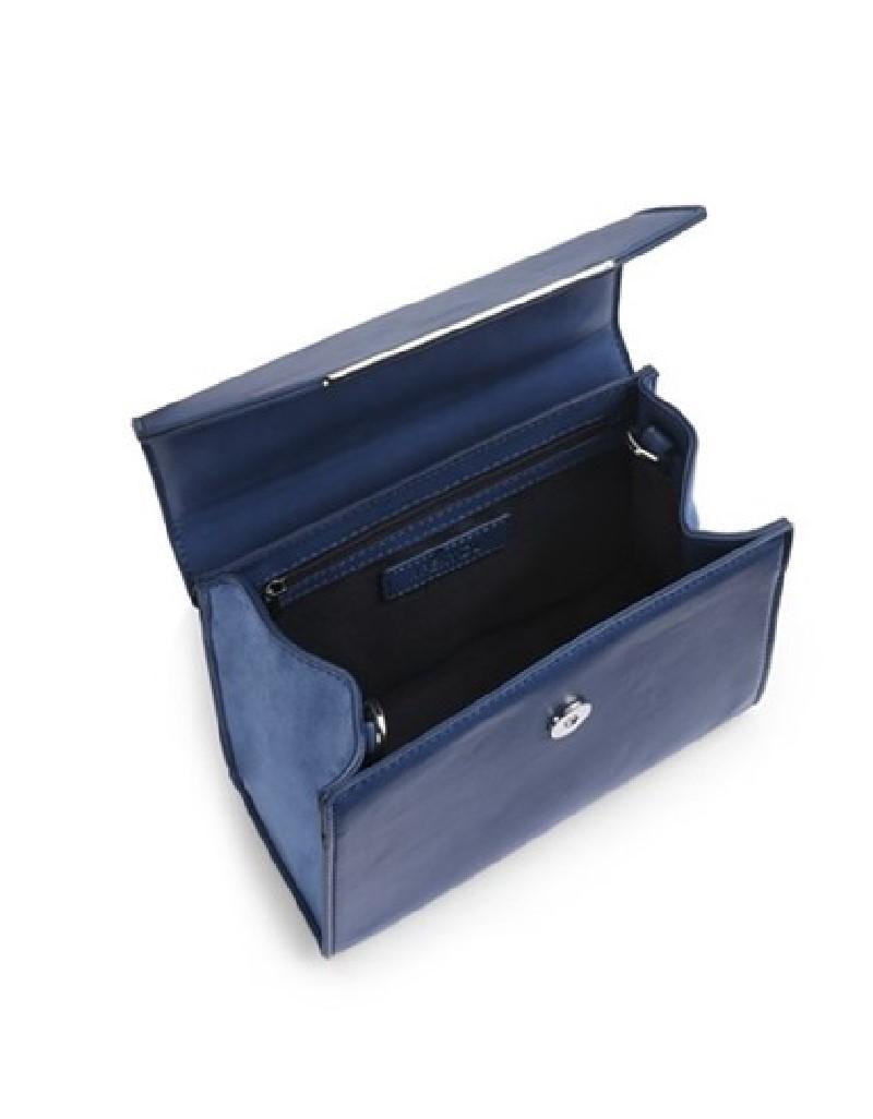 Blue Lace-Up Sleeve Bag