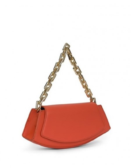 Orange Chain Strap Handbag