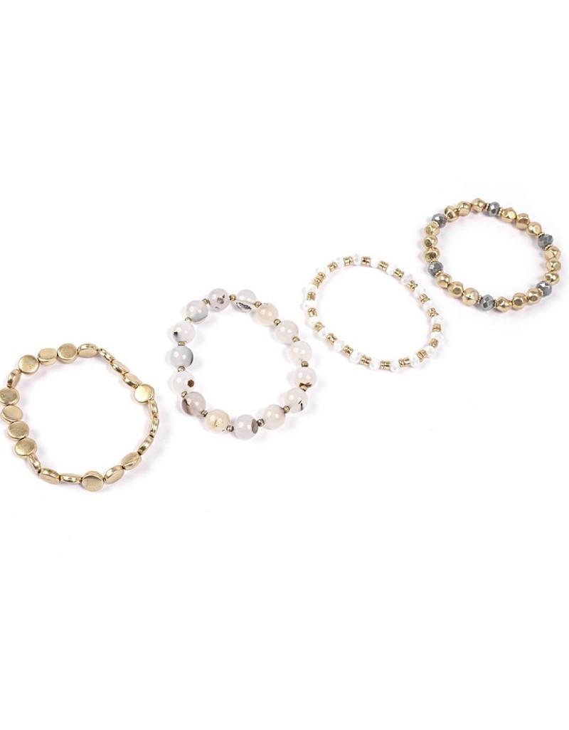 Gold Multiple Typesetting Bracelet