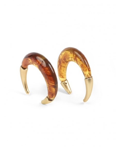 Brown Earring